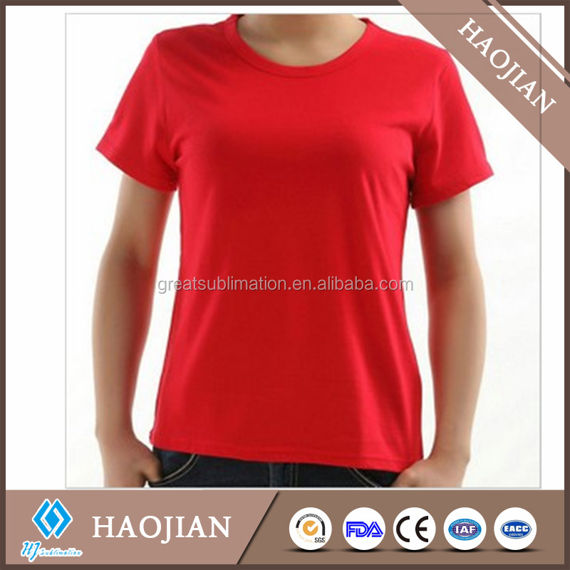 Sublimation Blank T Shirt 100 Cotton T Shirt For