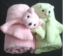 High quality muslin swaddle baby products mink baby blanket with toy made in china factory