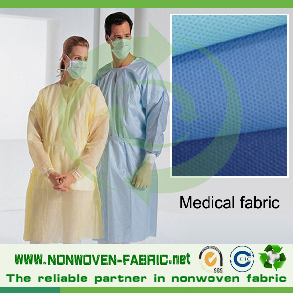 Hospital Gown Fabric SMS Spunbond Nonwoven Fabric for Medical