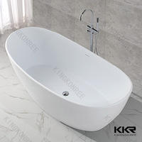 designer Solid Surface freestanding slipper baths