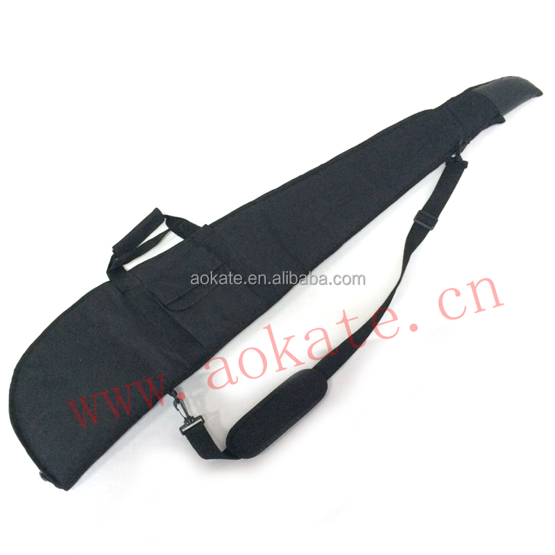 black hunting gun bag with one pocket on front for shooting rifle gun case
