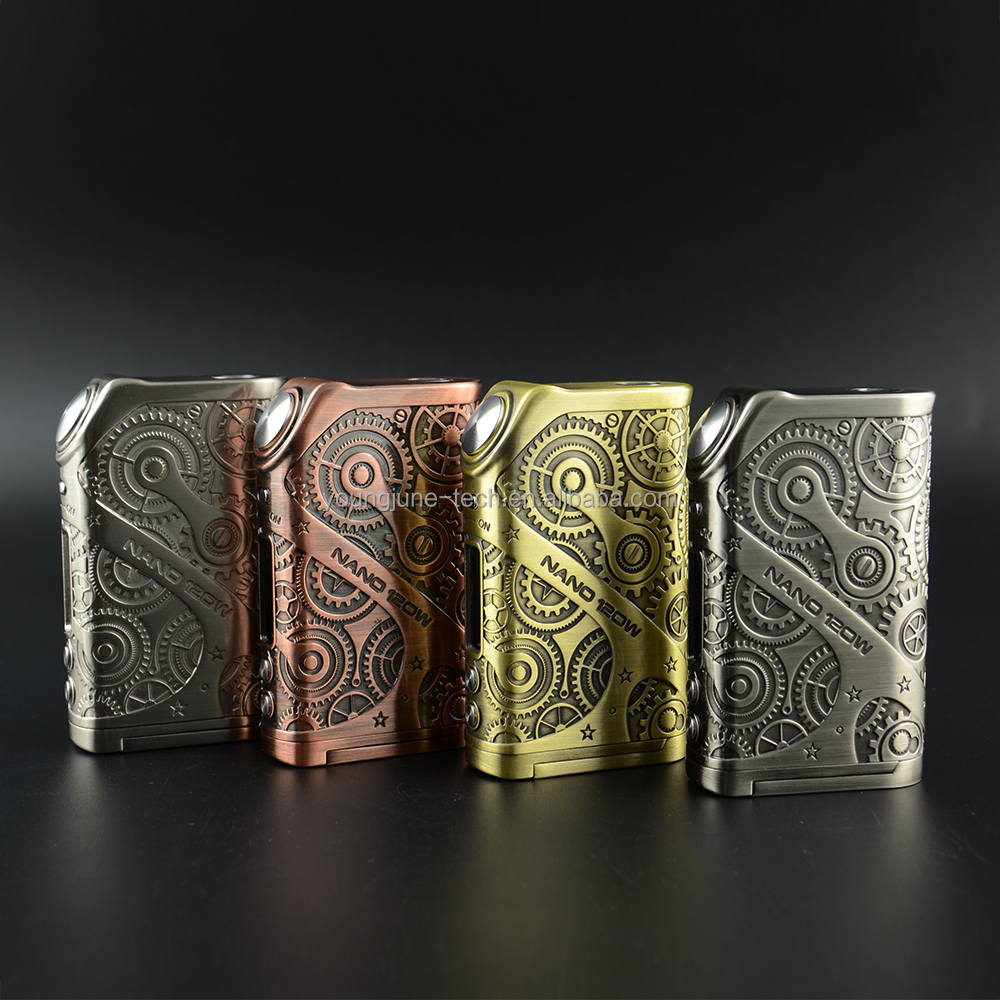 Authentic Teslacigs Battery Box Mod Steampunk Nano 120W Support Rda Rta,Teslacigs Nano 120W Original