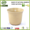 large eco bamboo fibre bio friendly office tableware hanging plant holder, garden flower bamboo pots