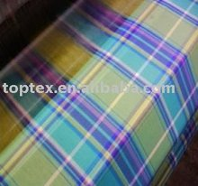 yarn dyed poplin/plaid fabric/cotton fabric