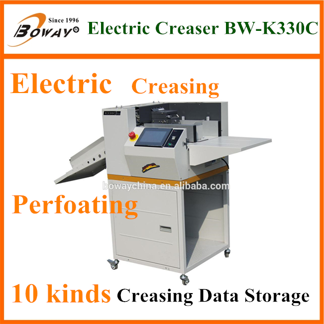 Boway 7'' touch screen Digital customized hole paper Punching Machine