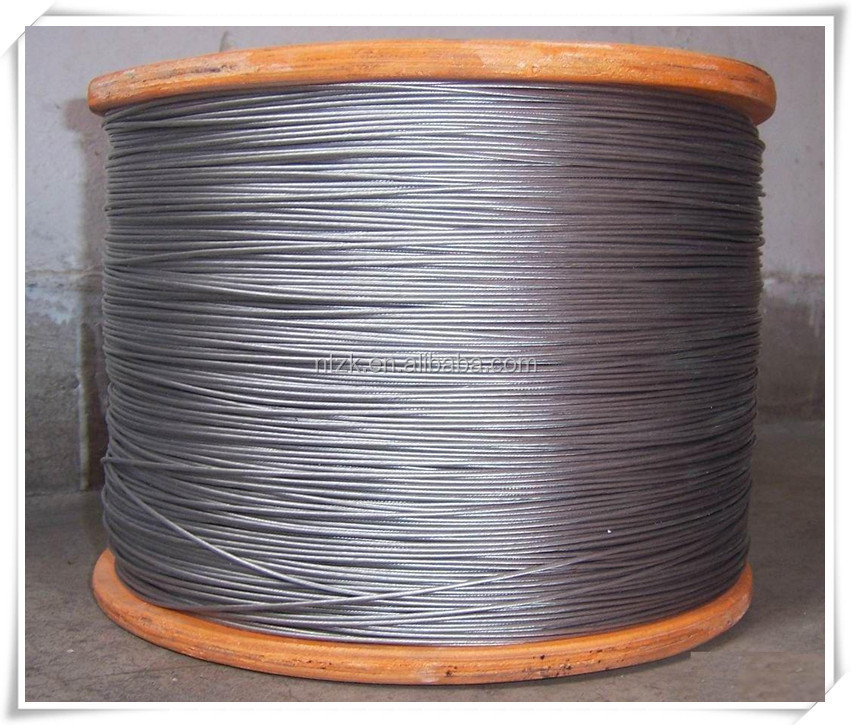 18X7+FC,20MM ungalvanized winding wire rope/steel strand/derrick tower crane steel wire rope