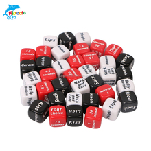 6 sided fashional party props funny letter dice of 16mm
