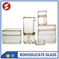 home storage wide mouth glass storage jar