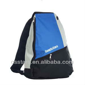 Blue Side Sling Backpack School Book Bag