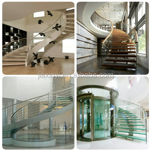Outdoor solid wooden treads iron railing spiral staircase china suppliers