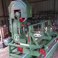 vertical band saw mill with cnc carriage automatic wood cutting machine