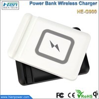 2 in1 4000mAh Mobile Wireless Power Bank Backup Qi Wireless Battery Charger