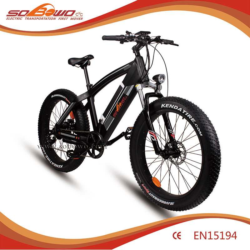 Aluminum Alloy frame fat tire snow folding electric bicycle easy riding bike with 36V 10.4Ah Li-ion battery--LSF007