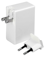 White 6.8A Portabl Universal 4 Port USB Travel Wall Charger for iPhone Mobile Phone