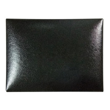 wholesale fashion high quality black leather paper cufflink gift box
