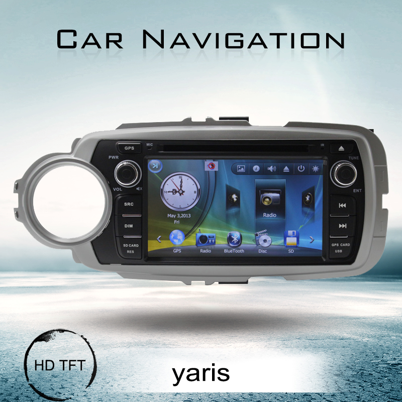 Toyota yaris 2012 car dvd with built-in navigation