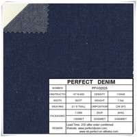 7.5oz Thin 98% Cotton 2% Elastane Denim Fabric for jeans