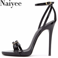 2018 Customized European model style thin tie high heel lady sex PU sandals