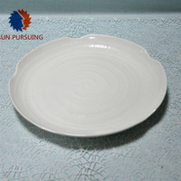 100% melamine 12 inch round china dinner plates P7103