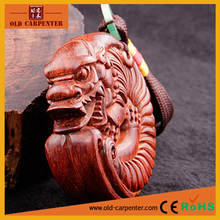 Chinese Curving Dragon and PiXiu hand massager ornament wood carving craft