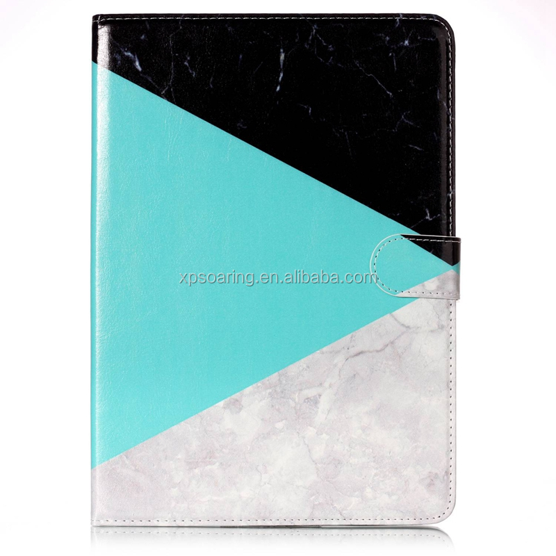 For iPad Air 2 Marble flip wallet case pouch with stand