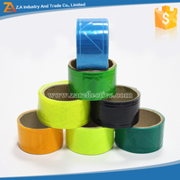 Custom Size And Pattern PVC Reflective Tape Fabric For Clothing/Raincoat