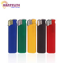 plastic solid color rechargeable electronic clipper gas smoke lighter