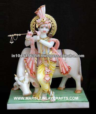 Marble Krishna Idol Krishna Statue With Cow