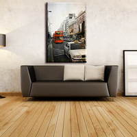 Hot sale nice modern city decoration wall scenery canvas art painting