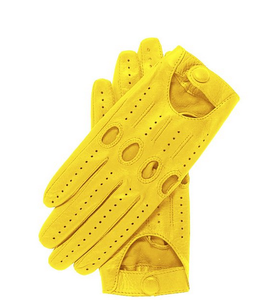 ZF4050 Top quality yellow motorcycle leather car driving gloves supplier