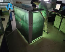 Outdoor using movable folded bar counter with led lighting for sale Sg3