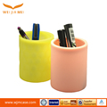 2017 pretty middle round new yellow silicone pencil vase wholesale