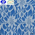 White Flower Style bohemian elastic French nylon lace fabric wholesale
