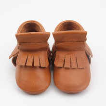Factory Wholesale Genuine Leather High Top Baby Booties Moccasin Shoes