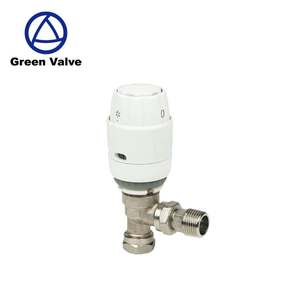 Green-GutenTop GT2921 15mm*15mm White and nickel finish Offers frost protection Brass Thermostatic Radiator Valve (TRV)