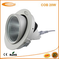 Ceiling Recessed High Power dimmable 20w COB flush mounted led downlight