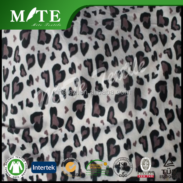 heart design 100% polyester polar fleece fabric in anti pilling and brushed