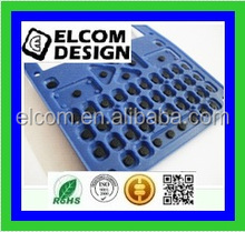 Carbon Pill Silicon Rubber With Membrane keypad Metal Dome Tactile