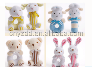 High Quality Soft Baby Rattle Plush Toy colorful a cute Baby Boy Gifts Baby Boy Toys