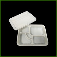 Custom recycle biodegradable food packaging plastic Meat tray disposable