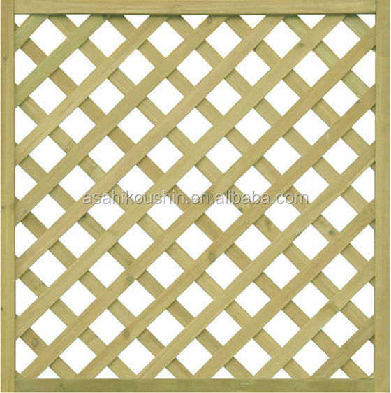 Japan Technology Anticorrosive Garden Wood Lattice