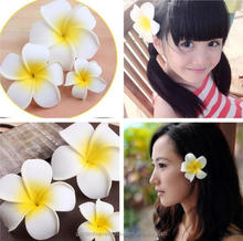 Factory Wholesale Artificial foam Plumeria flower with clip