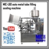 MIC-L60 Hot Sale Tube Filling Machine Aluminum Tube filling and sealing machine