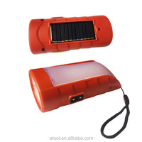 2017New Design ATOOL AT-107 ABS plastic mini led torch solar rechargeable flashlight
