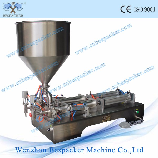 Double nozzles manual jam filling machine