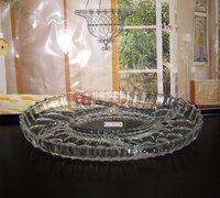 Round embossed glass plate / decorative glass plate wall art