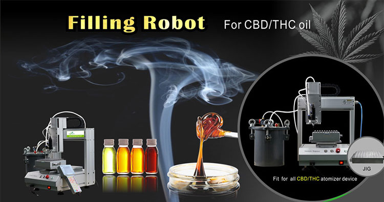 Rejoice oil filling machine filling robot for cbd cartridge and atomizer device