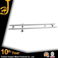 Stainless Steel 304 Double Key Glass Door Handle With Lock