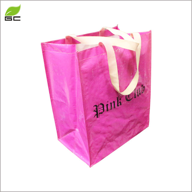 High quality handled style pp woven bag,shopping laminated PP non woven bag