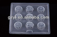 Plastic flower shaped lolly jelly chocolate moulds